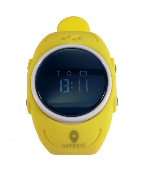SAFEKID WP300 - Gul GPS Klocka med mobil - Vattentät