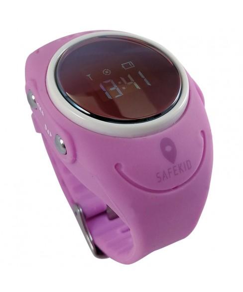 SAFEKID WP300 - Rosa GPS Klocka med mobil - Vattentät