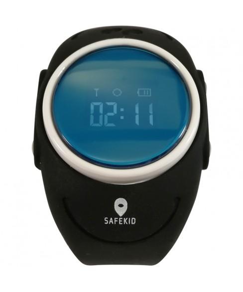 SAFEKID WP300 - Svart GPS Klocka med mobil - Vattentät