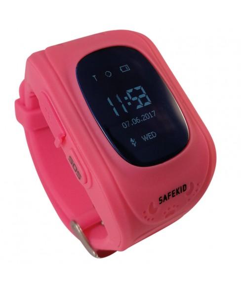 SAFEKID JUNIOR - Rosa GPS Klocka med mobil