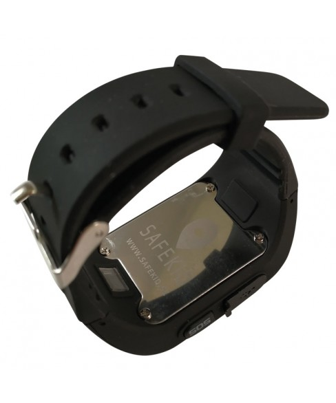 SAFEKID JUNIOR - Svart GPS Klocka med mobil