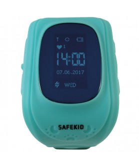 SAFEKID JUNIOR - Turkos GPS Klocka med mobil