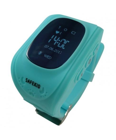 SAFEKID JUNIOR - Turkos GPS Klocka med mobil