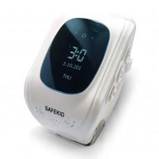 SAFEKID JUNIOR - Vit GPS klocka med mobil