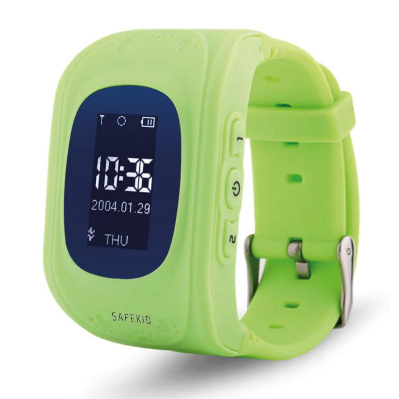 SAFEKID JUNIOR - Grön GPS klocka med mobil
